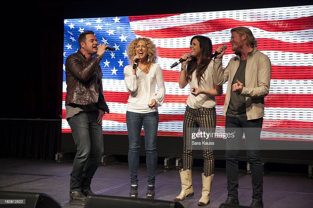 Jimi Westbrook, Kimberly Schlapman, Karen Fairchild and Philip Sweet attend CRS 2013 on February 27, 2013 in Nashville, Tennessee.