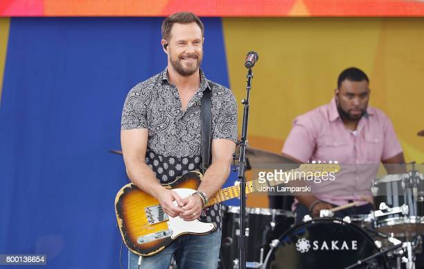 Jimi Westbrook of Little BigTown band performs at Rumsey Playfield Central Park on June 23 2017 in New York City