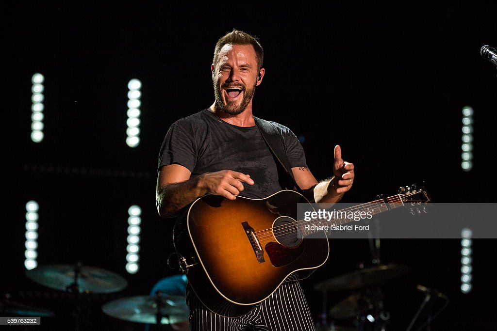 Jimi Westbrook of the band Little Big Town performs during the 2016 CMA Music Festival at Nissan Stadium on June 12 2016 in Nashville Tennessee
