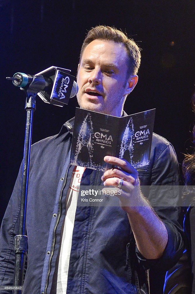 Jimi Westbrook speaks during the 48th Annual CMA Awards Nominees Announcement at Best Buy Theater on September 3, 2014 in New York City.