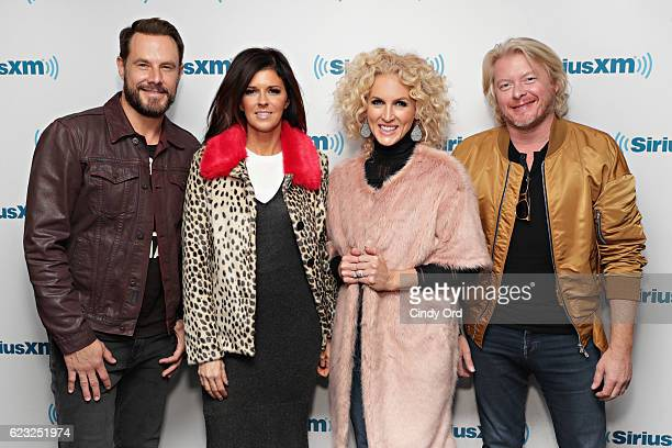 Jimi WestbrookKaren Fairchild Kimberly Schlapman and Phillip Sweet of Little Big Town visit the SiriusXM Studios on November 14 2016 in New York City