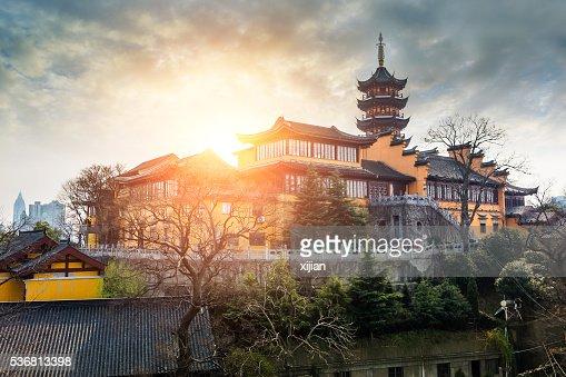 Jiming Temple sunset in Nanjing,China
