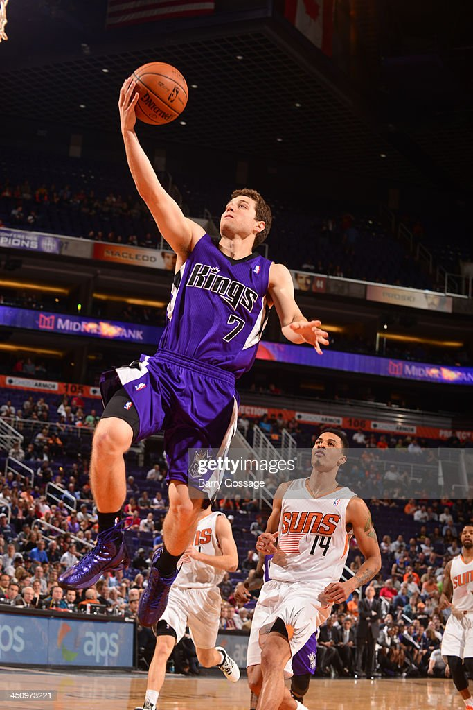 <a gi-track='captionPersonalityLinkClicked' href=/galleries/search?phrase=Jimmer+Fredette&family=editorial&specificpeople=5020564 ng-click='$event.stopPropagation()'>Jimmer Fredette</a> #7 of the Sacramento Kings drives for a shot against the Phoenix Suns on November 20, 2013 at U.S. Airways Center in Phoenix, Arizona.