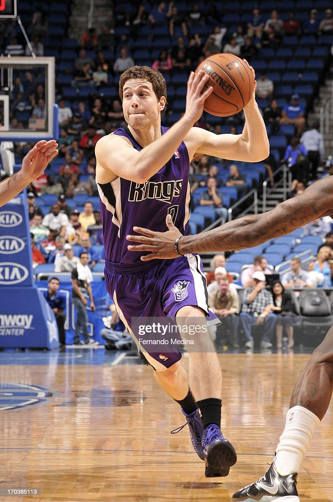<a gi-track='captionPersonalityLinkClicked' href=/galleries/search?phrase=Jimmer+Fredette&family=editorial&specificpeople=5020564 ng-click='$event.stopPropagation()'>Jimmer Fredette</a> #7 of the Sacramento Kings handles the ball against the Orlando Magic on February 27, 2013 at Amway Center in Orlando, Florida.