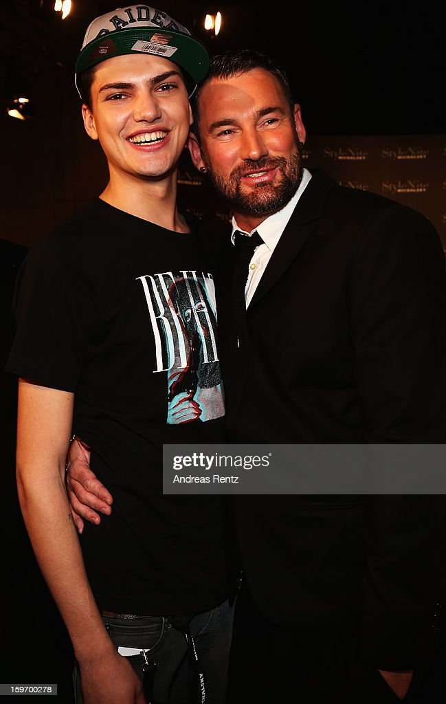 Jimmi Blue Ochsenknecht (R) and MIchael Michalsky attend the Michalsky Style Nite after party during the Mercedes-Benz Fashion Week at Tempodrom on January 18, 2013 in Berlin, Germany.
