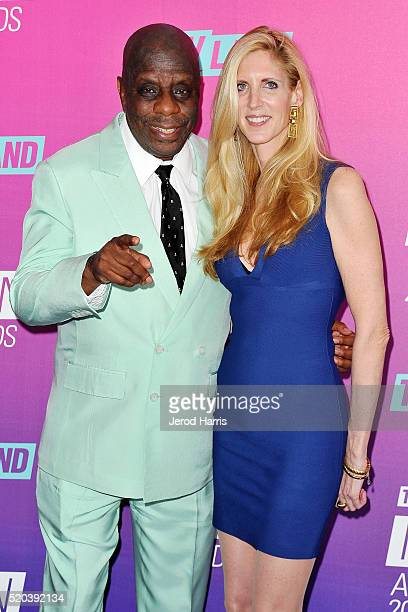 Jimmie 'JJ' Walker and Ann Coulter arrive at the TV Land Icon Awards at The Barker Hanger on April 10 2016 in Santa Monica California
