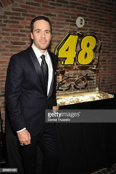 Jimmie Johnson attends the NASCAR SPRINT Cup party at Lavo at the Palazzo on December 4 2009 in Las Vegas Nevada