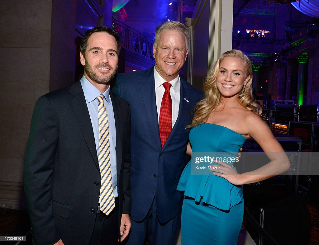 Jimmie Johnson, Boomer Esiason and Sydney Esiason attend the Samsung's Annual Hope for Children Gala at CiprianiÕs in Wall Street on June 11, 2013 in New York City.