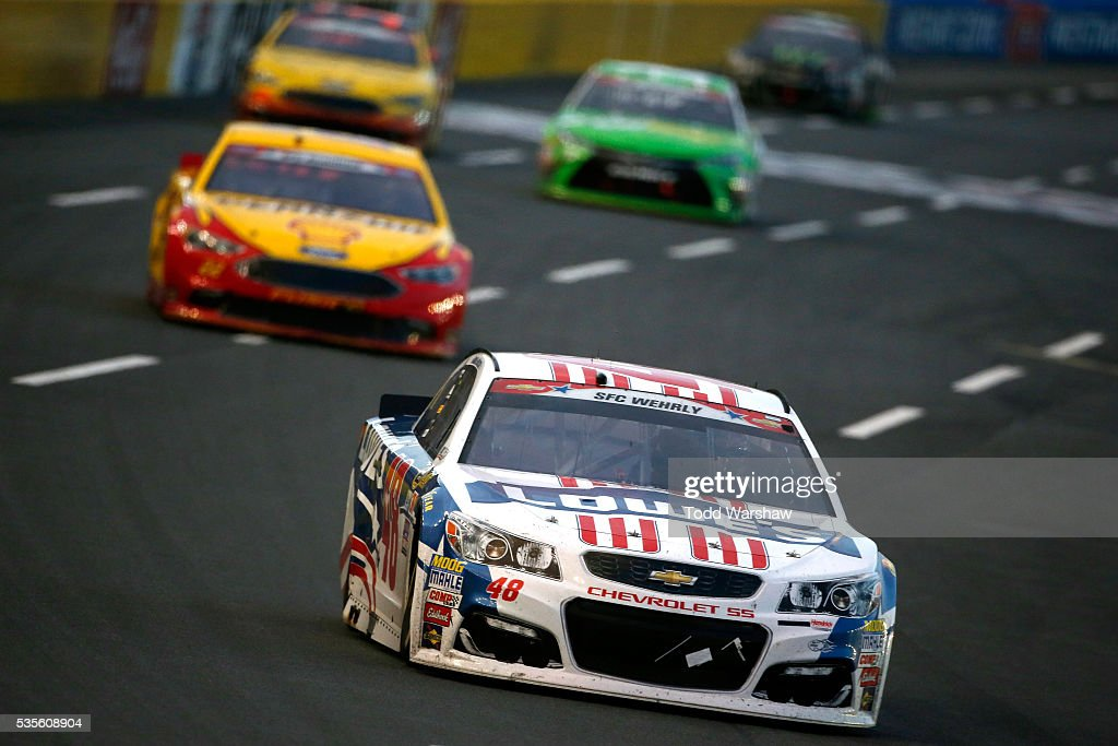 jimmie johnson driver of the 48 lowe 39 s patriotic chevrolet leads a. Cars Review. Best American Auto & Cars Review