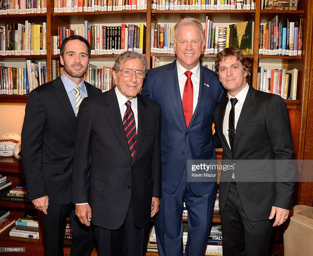 Jimmie Johnson, Tony Bennett, Boomer Esiason and Rob Thomas attend the Samsung's Annual Hope for Children Gala at CiprianiÕs in Wall Street on June 11, 2013 in New York City.