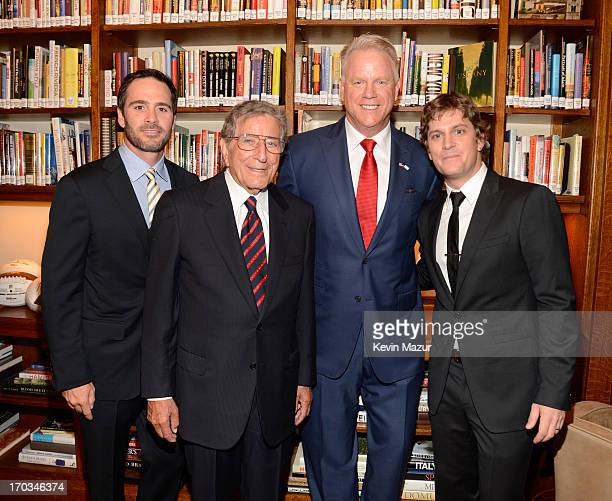 Jimmie Johnson Tony Bennett Boomer Esiason and Rob Thomas attend the Samsung's Annual Hope for Children Gala at CiprianiÕs in Wall Street on June 11...