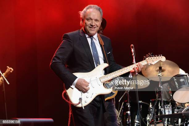 Jimmie Vaughan performs onstage with Eric Clapton His Band at Madison Square Garden on March 19 2017 in New York City