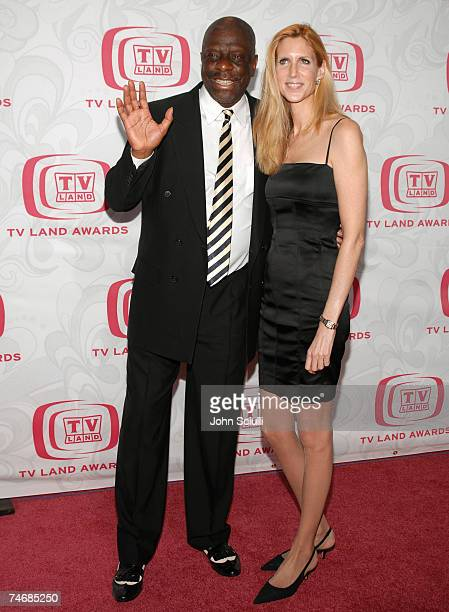 Jimmie Walker and Ann Coulter at the Barker Hanger in Santa Monica CA