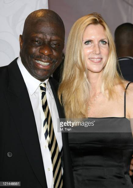 Jimmie Walker and Ann Coulter during 5th Annual TV Land Awards Arrivals at Barker Hangar in Santa Monica California United States