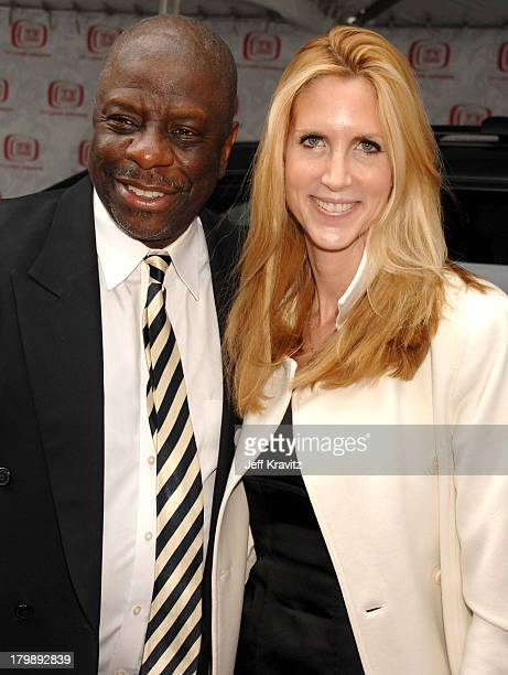 Jimmie Walker and Ann Coulter during 5th Annual TV Land Awards Red Carpet at Barker Hangar in Santa Monica California United States