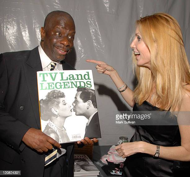 Jimmie Walker and Ann Coulter during Backstage Creations at the 5th Annual TV Land Awards at Barker Hangar in Santa Monica California United States