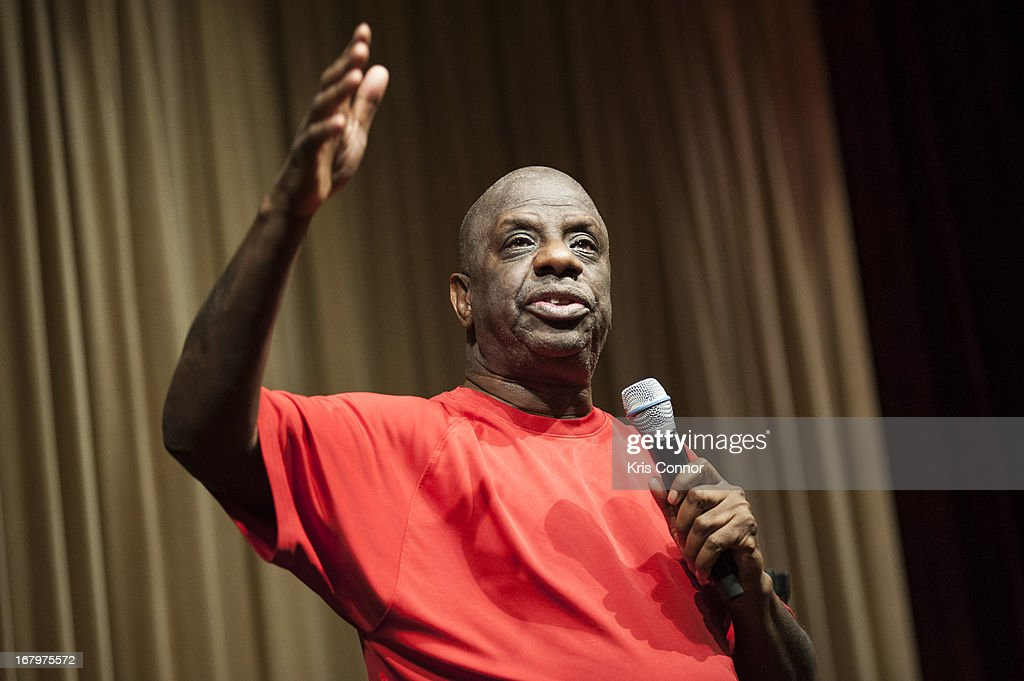 <a gi-track='captionPersonalityLinkClicked' href=/galleries/search?phrase=Jimmie+Walker+-+Actor&family=editorial&specificpeople=650111 ng-click='$event.stopPropagation()'>Jimmie Walker</a> speaks during a discussion about his book 'Dynomite! Good Times, Bad Times, Our Times - A Memoir' at McGowan Theater on May 3, 2013 in Washington, DC.