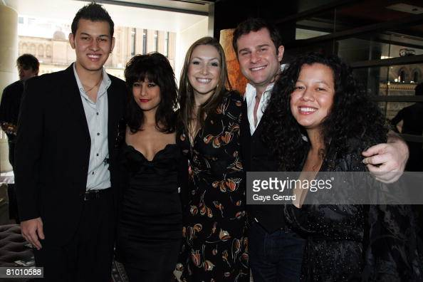 Jimmy and Jane Barnes'children Jackie Barnes Elly May Barnes Lisa Hewitt David Campbell and Mahalia Barnes pose during the launch of his biography at...