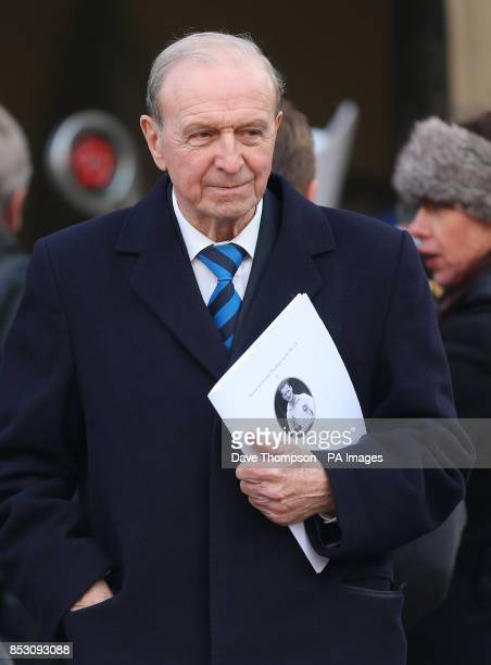 Jimmy Armfield leaves following the funeral of Sir Tom Finney following his funeral at St JohnOtildes Parish Church Preston
