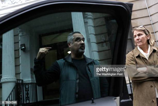 Jimmy Arroyo a DEA group supervisor and Erin Mulvey a DEA special agent seen on October 26 chat outside of an apartment building on 448 Central Park...
