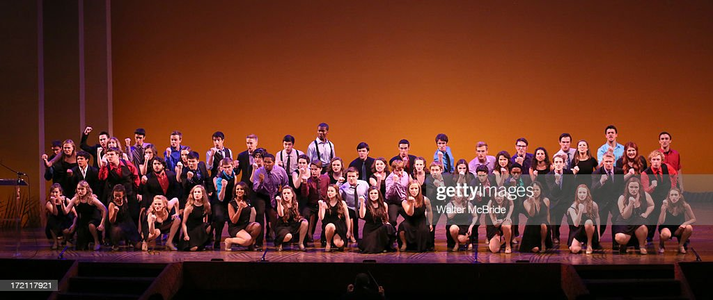 Jimmy Award Nominees perform at the 5th Annual National High School Musical Theater Awards at Minskoff Theatre on July 1, 2013 in New York City.