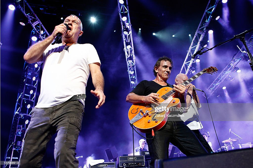 Jimmy Barnes and Ian Moss of Cold Chisel performs on stage at Allphones Arena on November 9 2011 in Sydney Australia