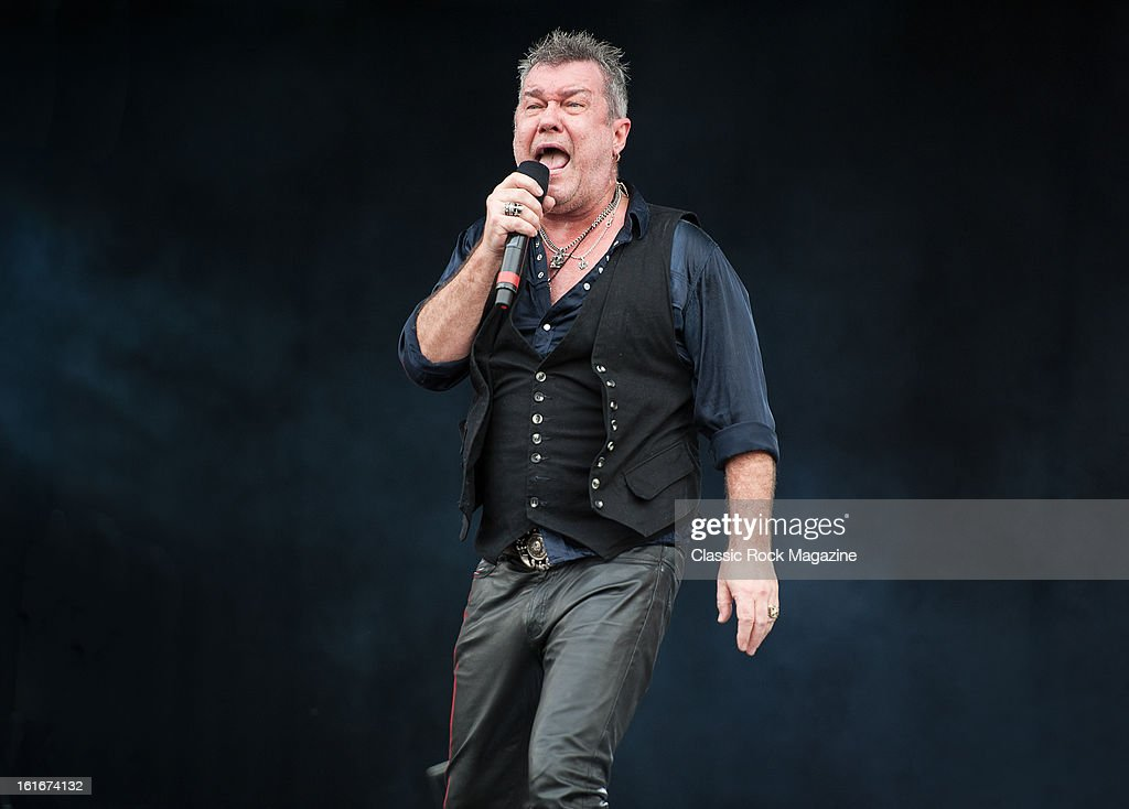 Jimmy Barnes of Australian hard rock band Cold Chisel performing live onstage at Hard Rock Calling Festival, July 13, 2012.
