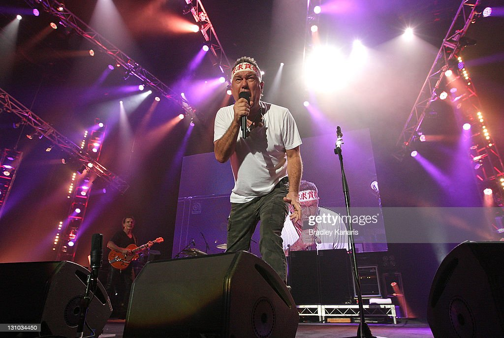 Jimmy Barnes of Cold Chisel performs on stage at the Brisbane Entertainment Centre on November 1 2011 in Brisbane Australia