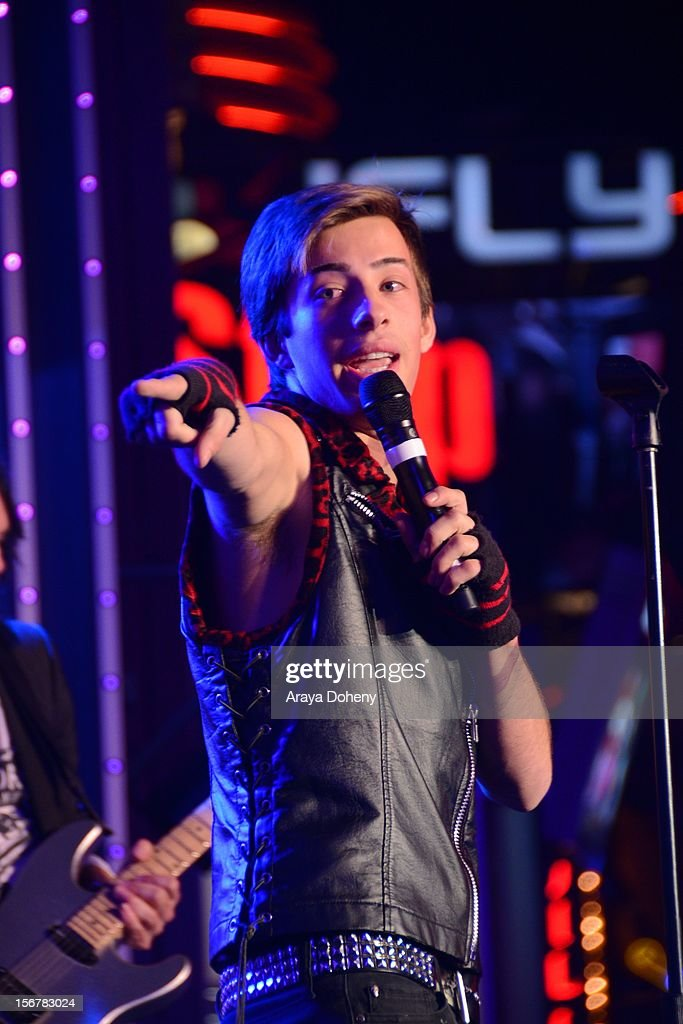 Jimmy Bennett performs at the 2012 Hollywood Christmas Parade Concert at Universal CityWalk on November 20, 2012 in Universal City, California.