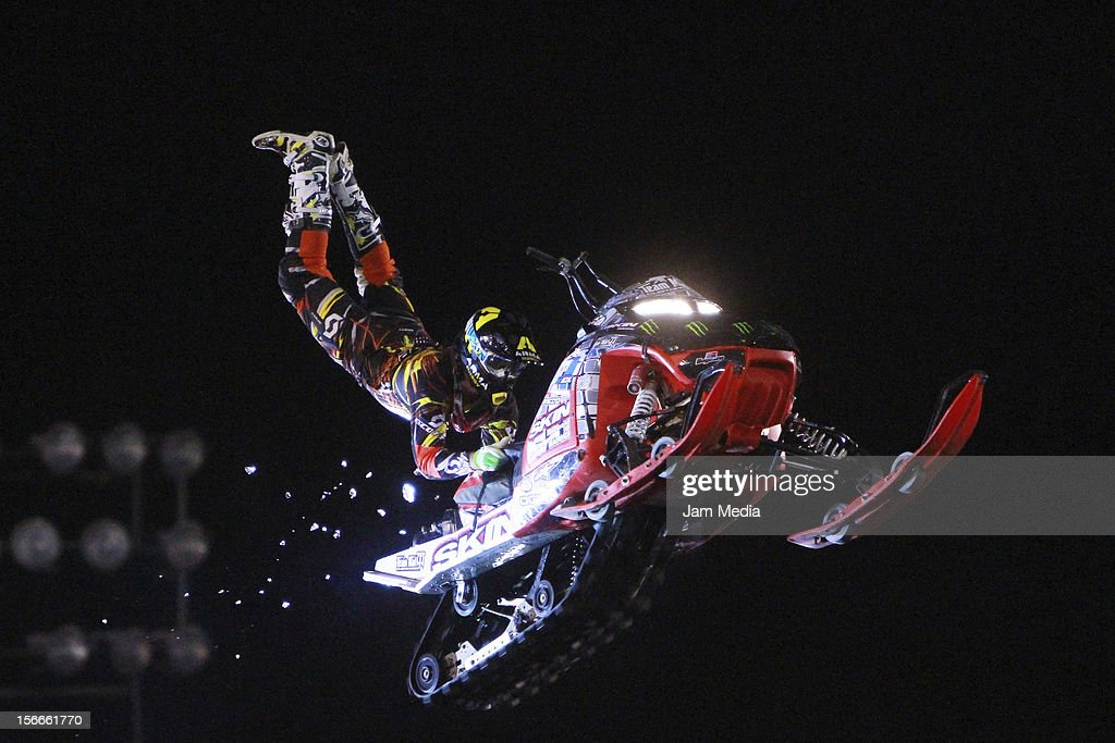 Jimmy Blaze of United States in action during the Xpilots - World Freestyle Motocross at Foro Sol on November 17, 2012 in Mexico City, Mexico