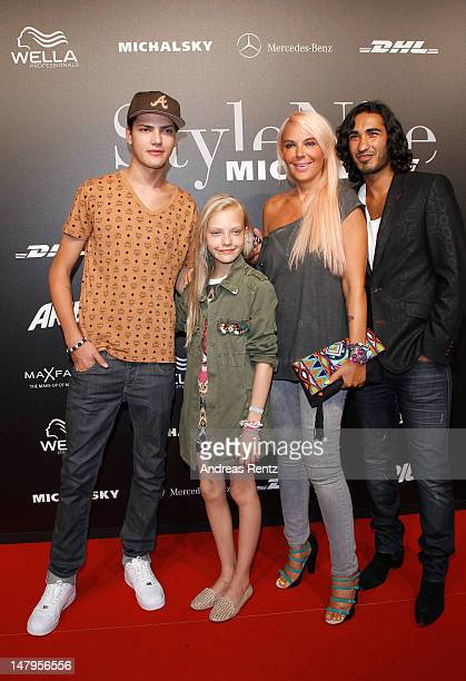 Jimmy Blue Cheyenne and Natascha Ochsenknecht and Umut Kekilli arrive for the Michalsky Style Nite 2012 during the MercedesBenz Fashion Week...