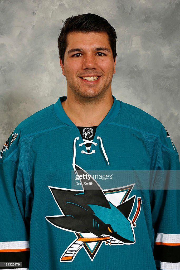 Jimmy Bonneau of the San Jose Sharks poses for his official headshot for the 2013-14 season on September 11, 2013 at SAP Center in San Jose, California.