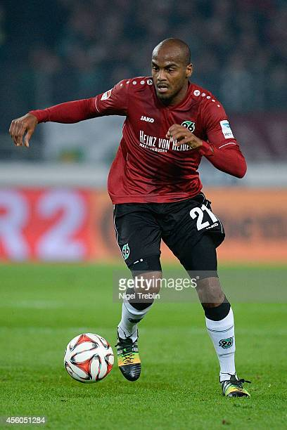 Jimmy Briand of Hannover controls the ball during the Bundesliga match between Hannover 96 and 1 FC Koeln at HDIArena on September 24 2014 in Hanover...