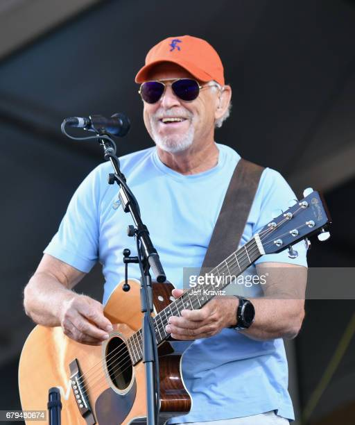 Jimmy Buffet performs onstage during day 5 of the 2017 New Orleans Jazz Heritage Festival at Fair Grounds Race Course on May 5 2017 in New Orleans...