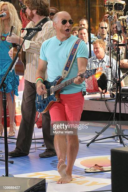 Jimmy Buffett during Halle Berry and Jimmy Buffett Visit NBC's The Today Show May 26 2005 at NBC Studios in New York New York United States