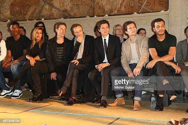 Jimmy Butler Benn Northover Michael Wincott Raphael Personnaz Hugo Becker and Adel Bencherif attend the Cerruti show as part of the Paris Fashion...