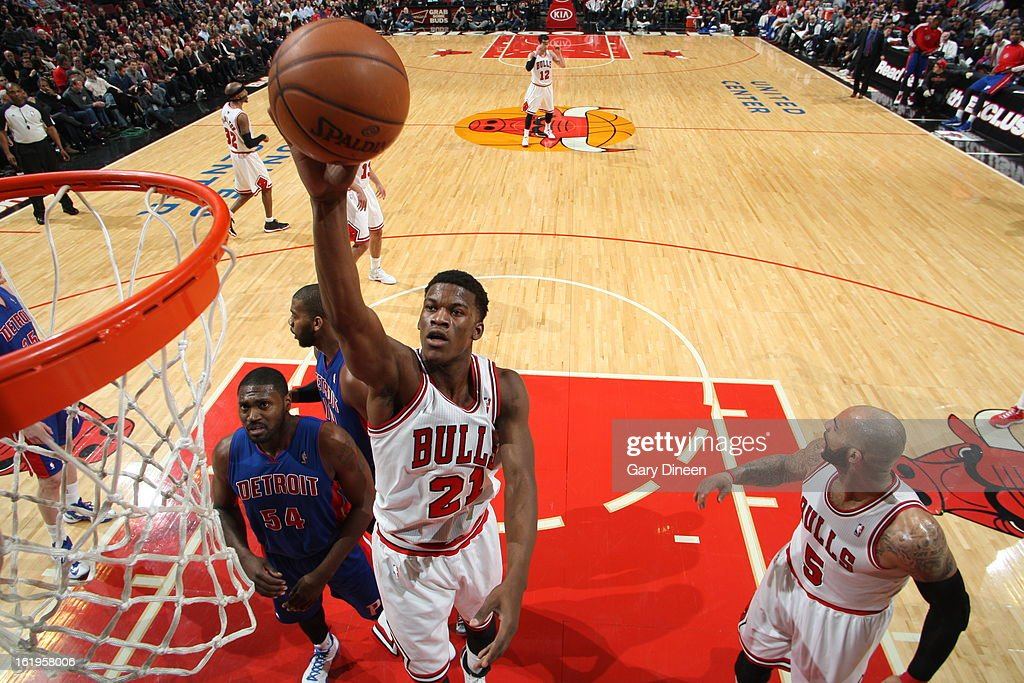 <a gi-track='captionPersonalityLinkClicked' href=/galleries/search?phrase=Jimmy+Butler+-+Basketball+Player&family=editorial&specificpeople=9860567 ng-click='$event.stopPropagation()'>Jimmy Butler</a> #21 of the Chicago Bulls drives to the basket against the Detroit Pistons on January 23, 2012 at the United Center in Chicago, Illinois.