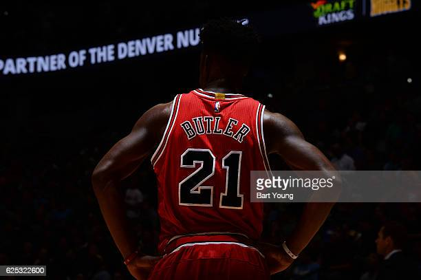 Jimmy Butler of the Chicago Bulls during the game against the Denver Nuggets on November 22 2016 at the Pepsi Center in Denver Colorado NOTE TO USER...