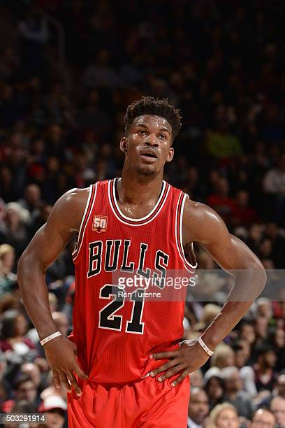 Jimmy Butler of the Chicago Bulls during the game against the Toronto Raptors on January 3 2016 at Air Canada Centre in Toronto Canada NOTE TO USER...