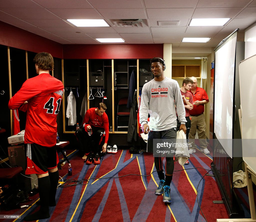 Jimmy Butler 21 Of The Chicago Bulls In The Locker Room Before A Game Agains