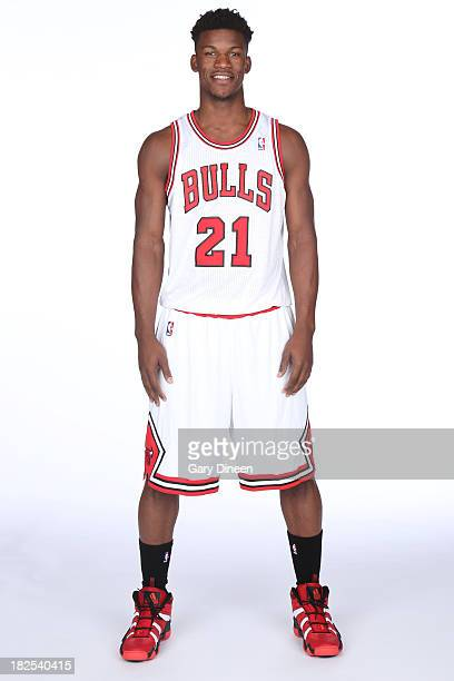 Jimmy Butler of the Chicago Bulls poses for a portrait during media day on September27 2013 at Berto Center in Deerfield Illinois NOTE TO USER User...