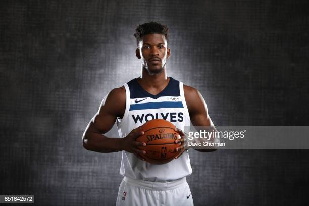 Jimmy Butler of the Minnesota Timberwolves pose for portraits during 2017 Media Day on September 22 2017 at the Minnesota Timberwolves and Lynx...