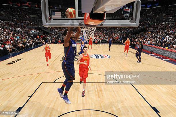 Jimmy Butler of the USA Basketball Men's National Team dunks against China at the Staples Center in Los Angeles California NOTE TO USER User...
