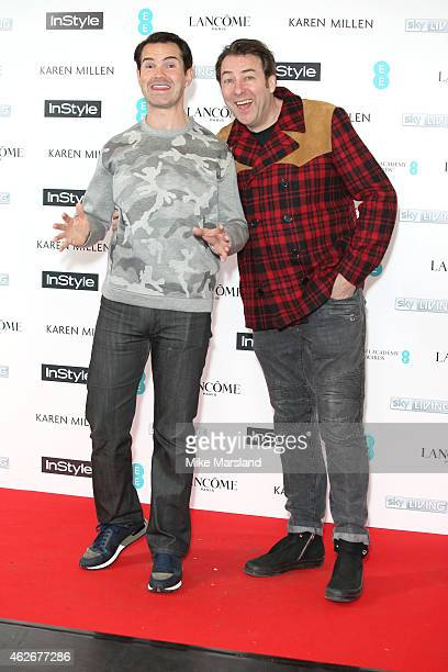 Jimmy Carr and Jonathan Ross attend the InStyle The Best of British Talent PreBAFTA party at The Ace Hotel on February 2 2015 in London England
