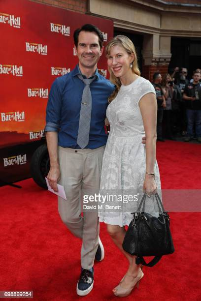 Jimmy Carr and Karoline Copping attend the press night performance of 'Bat Out Of Hell The Musical' at The London Coliseum on June 20 2017 in London...