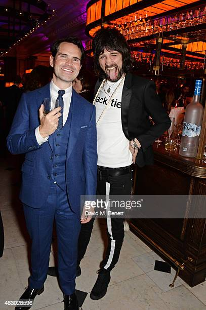 Jimmy Carr and Sergio Pizzorno attend The Weinstein Company Entertainment Film Distributor StudioCanal 2015 BAFTA After Party in partnership with...