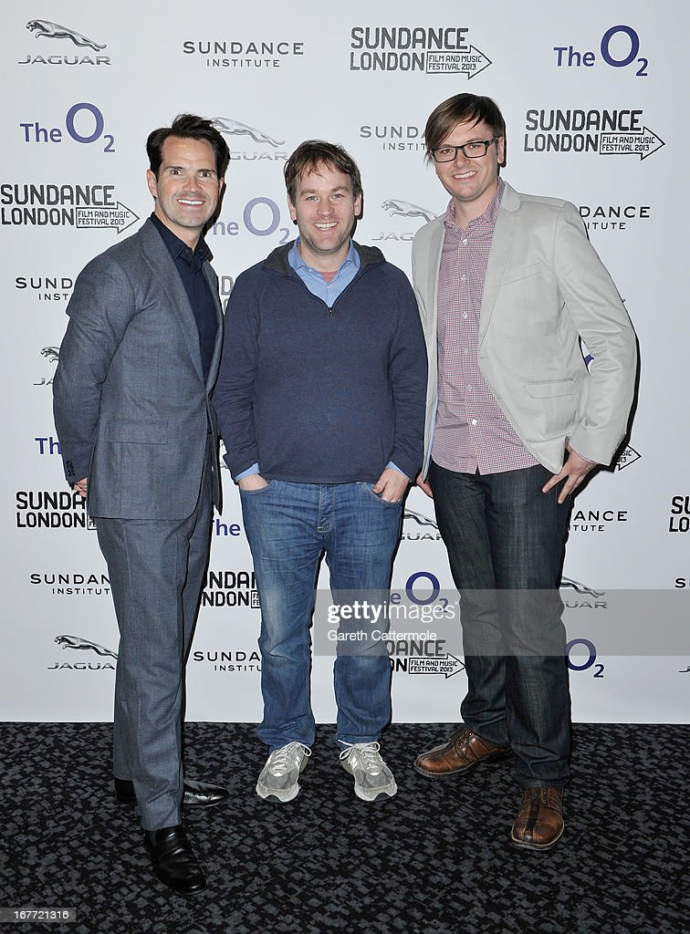Jimmy Carr, director Mike Birbiglia and producer Jacob Jaffke attend the 'Sleepwalk With Me' screening during the Sundance London Film And Music Festival 2013 at Sky Superscreen O2 on April 28, 2013 in London, England.