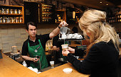 Jimmy Carr launches new stronger British Latte at Starbucks on March 14 2012 in London England