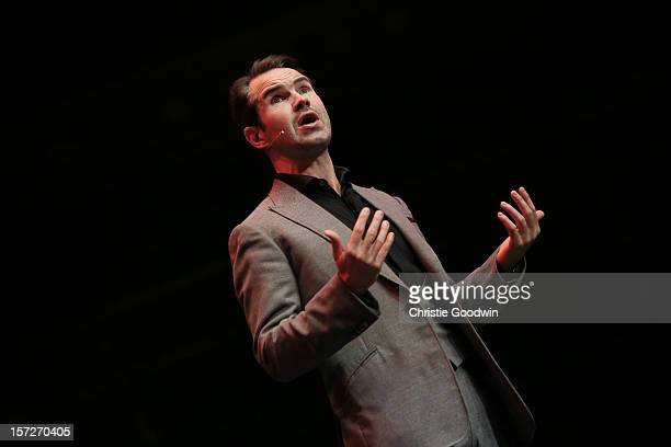 Jimmy Carr performs on stage as part of the The Prince's Trust comedy gala We Are Most Amused at Royal Albert Hall on November 28 2012 in London...