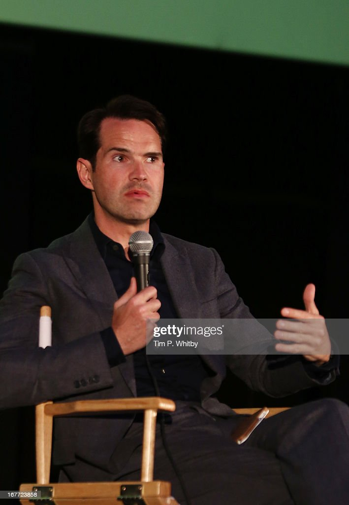 <a gi-track='captionPersonalityLinkClicked' href=/galleries/search?phrase=Jimmy+Carr&family=editorial&specificpeople=211613 ng-click='$event.stopPropagation()'>Jimmy Carr</a> speaks at the 'Sleepwalk With Me' screening during the Sundance London Film And Music Festival 2013 at Sky Superscreen O2 on April 28, 2013 in London, England.